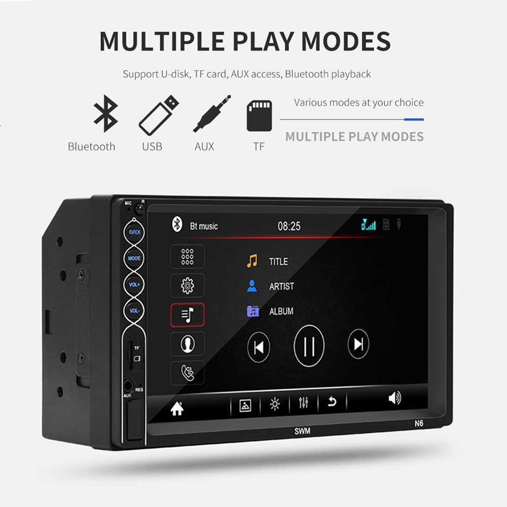 2din Mobil Radio MP5 Stereo Receiver Bluetooth Stereo Audio Radio Player Cermin Link Dukungan Kamera Belakang/Rem Pengingat