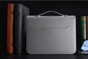 A4 Document Bag Padfolio File Manager Folder With Calculator+Spiral Notebook Business Briefcase