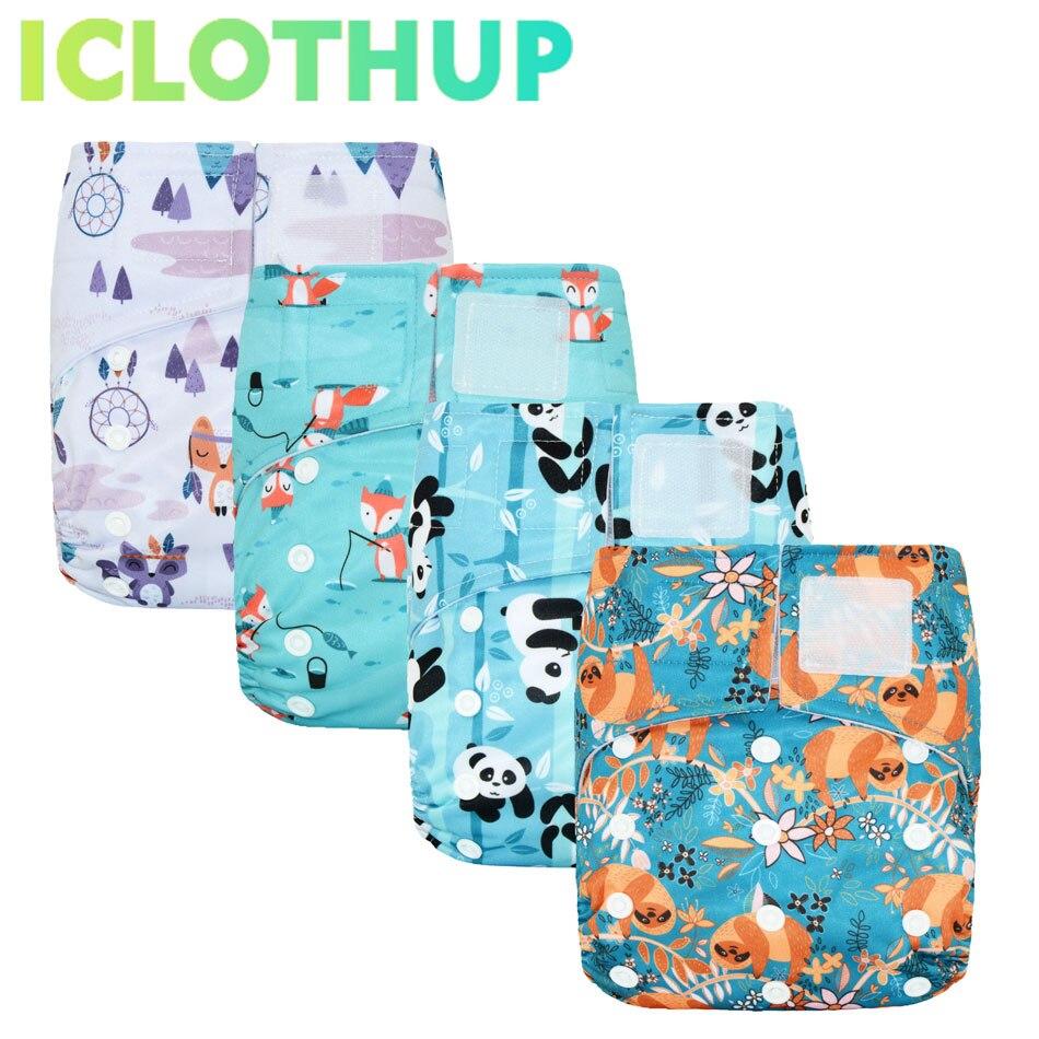 Hook&Loop OS Pocket Cloth Diaper,waterproof Breathable S M& L Adjustable,fit 5-15kg Baby