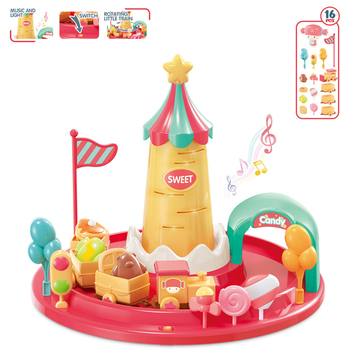 Mini wózek na słodycze elektryczny mały pociąg zestaw zabawek kolejowy mały pociąg s zabawka plastikowy tor udawaj zagraj w dom ciekawa zabawka dla dzieci tanie i dobre opinie CN (pochodzenie) kb01 no food Muzyka