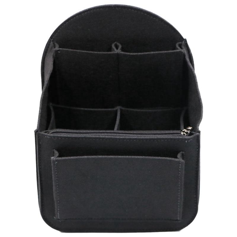 Felt Backpack Insert Organizer Storage Bag Universal Bag In Bag Men Women Shoulder Tote Bags Handbag Organizers(Black)