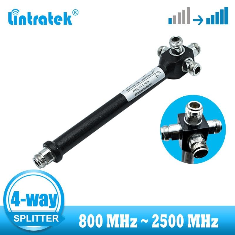 4 Way Power Divider Splitter 800~2500MHz 2G 3G 4G Splitter For GSM 900 CDMA LTE 1800  Amplifier Connection More Indoor Antenna