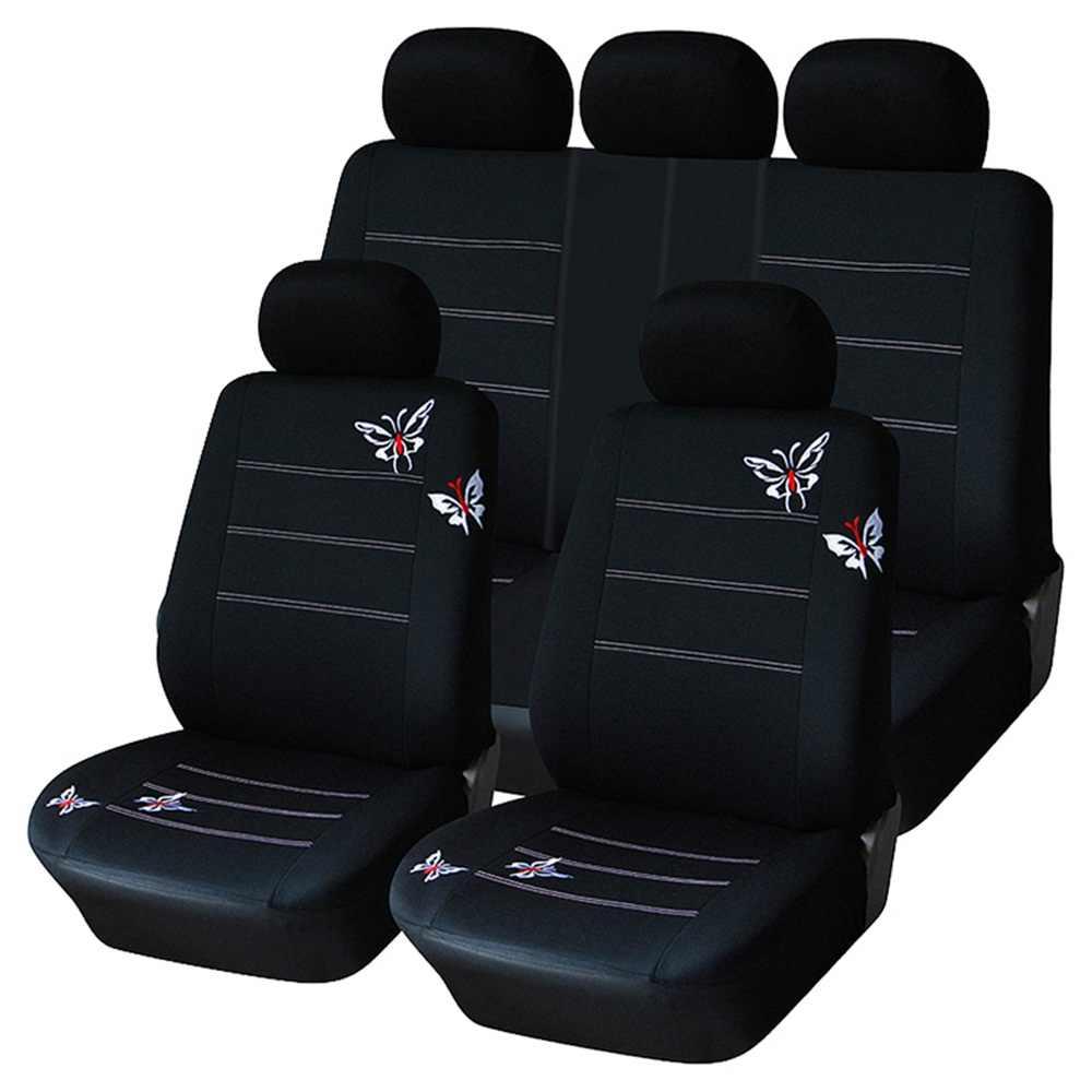 Funda del asiento klimatisierend negro para mitsubishi outlander 3 vehículos todo terreno SUV 5-t