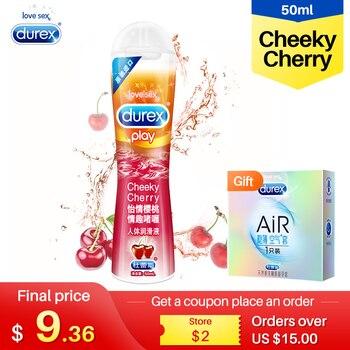 Durex-lubricante sexual Cherry para parejas, Gel Oral a base de agua, productos...