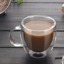 200ml Double-Layer Glass Coffee Cup High Borosilicate With Hand Espresso Glass Cup Cup Hot Milk Cup Glassware