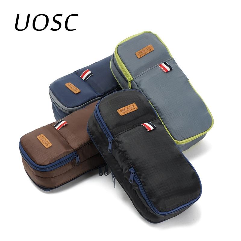 UOSC 2019 Travel Cosmetic Bags Organizer Portable Makeup Bags For Women Men Make Up Case Men Toiletry Bag Necessaries Wash Bag