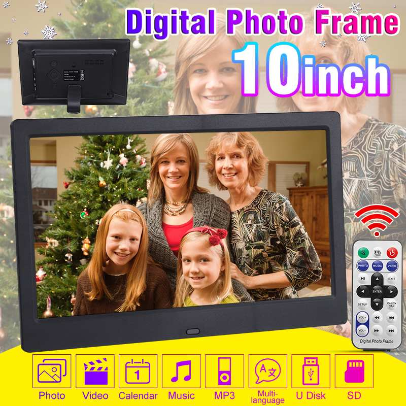 Clock Digital-Photo-Frame Electronic Album 10inch-Screen Full-Function-Picture Video