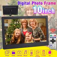 10 inch Screen Digital Photo Frame HD 1024x600 LED Backlight Full Function Picture Music Video Movie Electronic Album Clock Gift