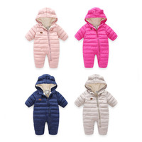 Christmas 6 24 M Infant Baby Girl Boy Winter Kids Baby Girls Coats Boys Cotton Clothes Outerwear Toddler Candy Color Rompers