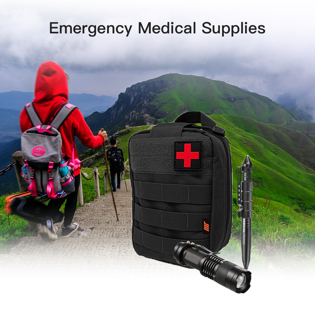 250PCS First Aid Kit Bag Emergency Medical Luggage Multi-Function First aid Emergency Supplies for Wilderness Camping Adventures 1