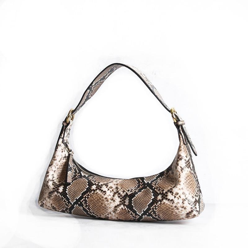 Diysomes Vintage Amber Crescent Bag Leather Tote Shoulder Glossy Portable Half-Moon Underarm