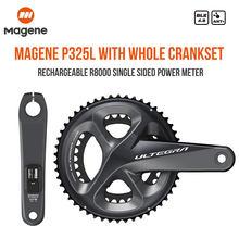 Magene p325l/r único medidor de potência com manivela ultegra r8000 unidade shimano bicicleta estrada acessórios peças computador recarregável