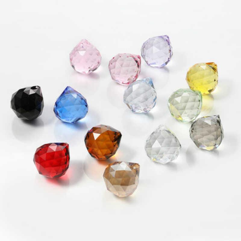 10 sztuk 30mm mieszane kolory szklane pryzmat części Crystal Ball kryształowe Faceted Ball do oświetlenia/pokój weselny/ wystrój okna