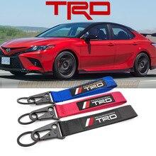 Прямая поставка спортивная эмблема TRD для гоночного автомобильного ремня безопасности материал нейлон ткань брелок вышивка строчка для Yaris...