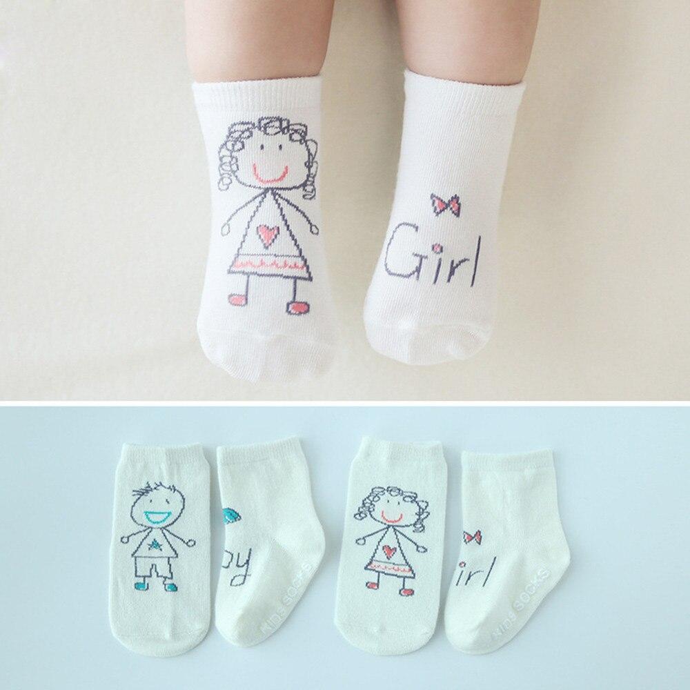 Children's Socks носки детские Cartoon Image Baby Infant Socks Newborn Cotton Boy Girl Cute Asymmetry Toddler Anti-slip Socks H5