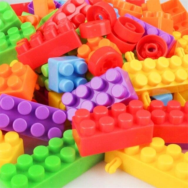 Купить 160 шт/пакет пластиковые детские большие частицы конструкторных картинки цена