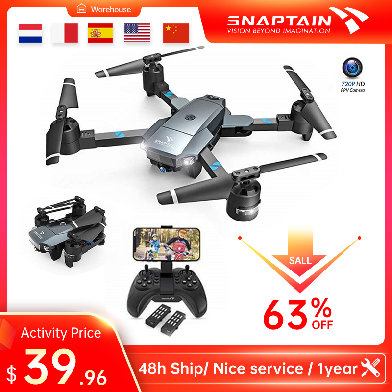 SNAPTAIN A15 720P 1080P WIFI FPV With Wide Angle HD Camera Hight Hold Mode Foldable Arm RC Quadcopter Drone Dron Christmas Gift