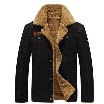 2018 Plus Size  Fashion Men's Thick Lapels Cotton Jacket Plus Velvet Dad Middle-aged Jacket , Winter Warm Short Coat Jacket 5XL