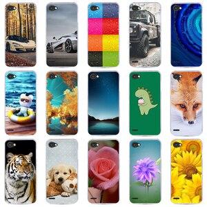 Étui pour LG de téléphone Q6 alpha Q6a Q 6 M700 étui étui arrière souple en Silicone or polyuréthane thermoplastique pour LG Q6 alpha Q6a Q 6 M700 Coque de téléphone Fundas