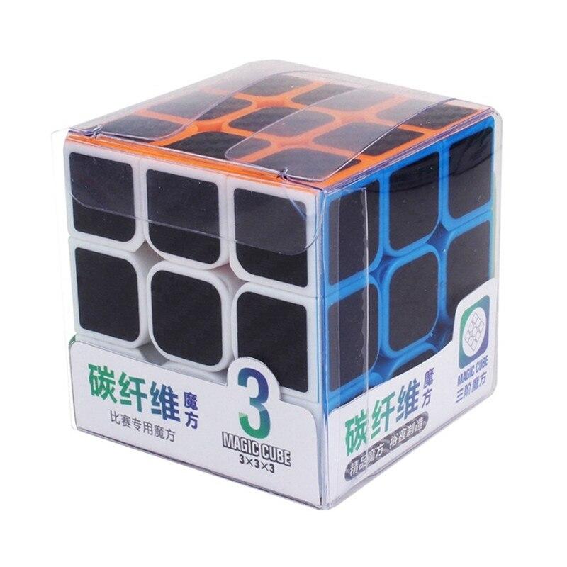 Carbono 3x3x3 suave magic cube velocidade profissional