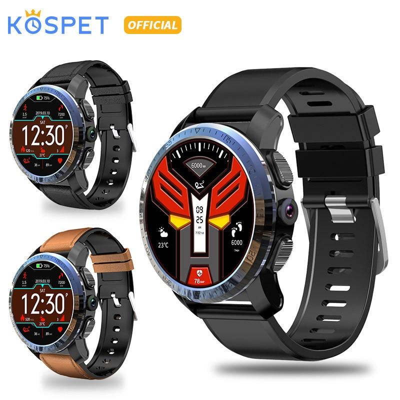 Kospet optimus pro 3 gb 32 gb 800 mah bateria sistemas duplos 4g relógio inteligente telefone impermeável 8.0mp 1.39
