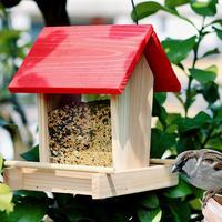 Innovation Bird Feeder Outdoor Bird Hanging Rainproof Balcony Villa Fashion Bird Food Box Applicable Object All Wild Birds