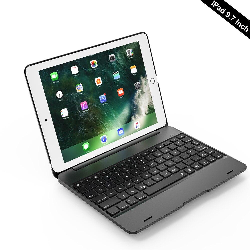 Bluetooth беспроводная клавиатура чехол Крышка для Apple iPad 9,7 2017 2018 5th 6th Generatio iPad воздуха 1 2 5 6 iPad Pro 9,7 складная клавиатура