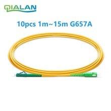Cordon de raccordement optique LC SC APC cordon de raccordement en Fiber G657 Simplex 2.0mm câble de raccordement PVC SM câble à Fiber optique insensible
