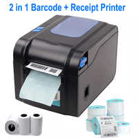 Barcode Label printer Thermal Receipt or Label Printer Print Sticker Bill Machine 20mm to 80mm with Auto Peeling XP-370B