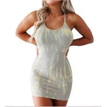 Женское сексуальное платье на бретельках летнее модное облегающее