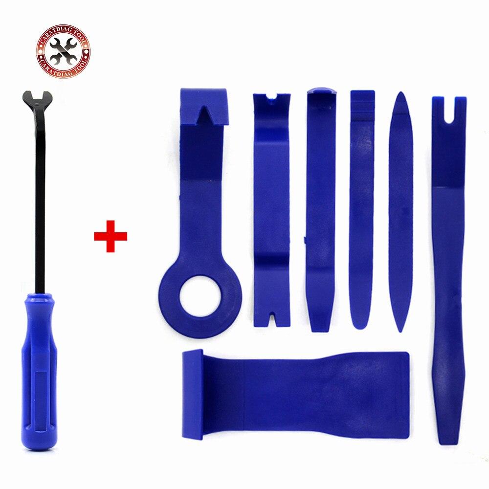 Набор инструментов для ремонта автомобиля, 7 шт., жесткий пластик, автомагнитола, панель с клипсой для внутренней двери, набор инструментов д...