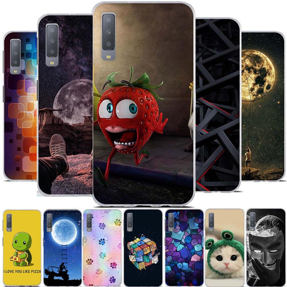 Чехол с 3D принтом для Samsung Galaxy A7 2018, силиконовый чехол для Samsung Galaxy A7 A750 2018, Модный чехол, бампер, 6,0