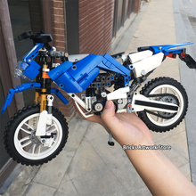 Fit  Technic Creator Series Sets Motorbike & Folding Bicycles 2in1 transformable Blocks Building Toys For Children Gifts