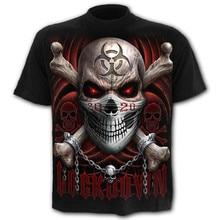 Men's T-Shirt Horror Skull Short-Sleeved Streetwear 3d-Printed Summer Casual Tops Round