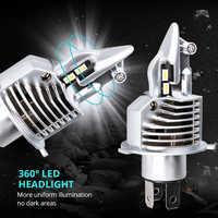2 pièces H4 ampoule Led Fighter Foco moto voiture phare 72W 12V 24V 6500K Super Led H4 moto phares ampoules lampada Led H4