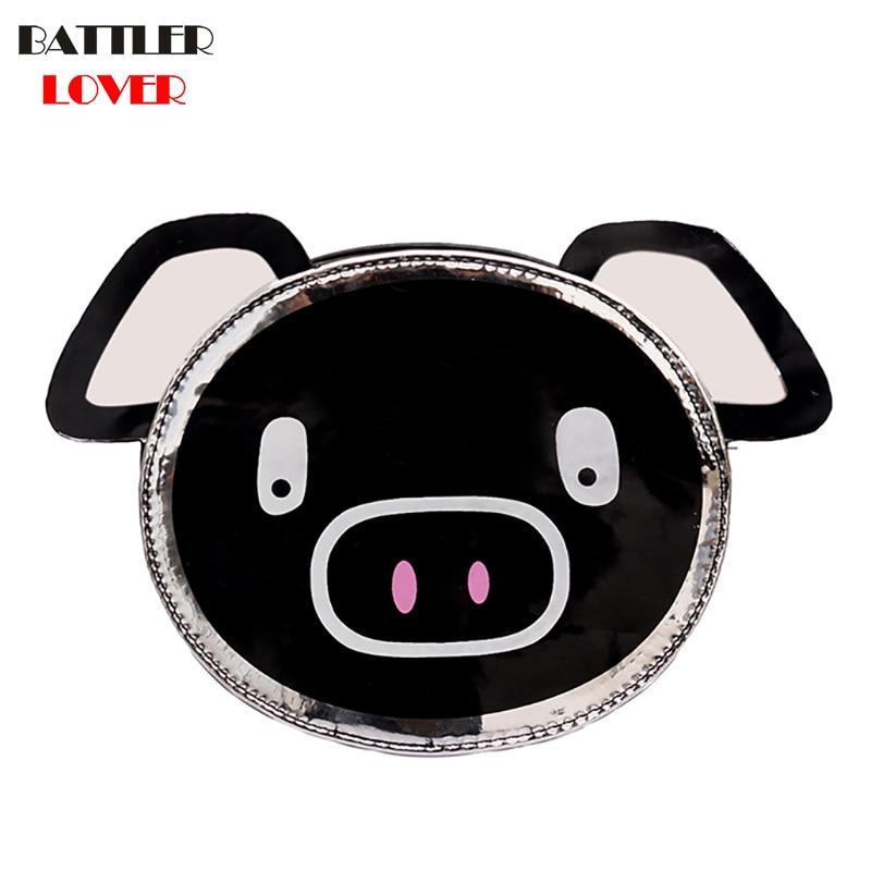2019 Cute Cartoon Pig Crossbody Bags Women Personality Pig Small Square Phone Coin Bag Tassel Wild Womens Shoulder Messenger Bag