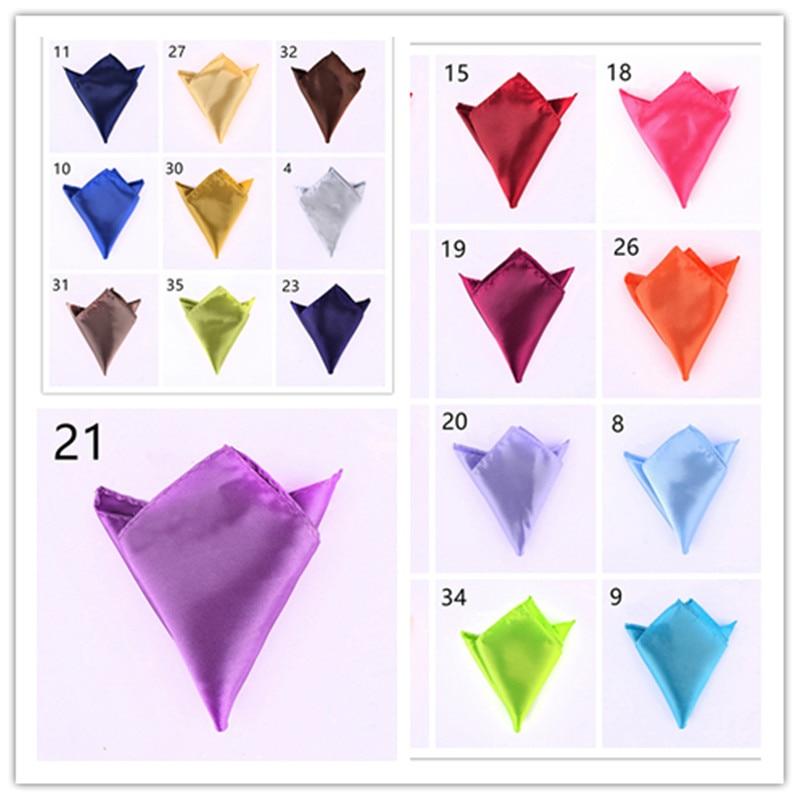 Men's Pocket Handkerchiefs Business Casual Men's Square Handkerchief Candy Wedding Suit Solid Color Party Suit Accessories