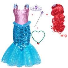 Carnival kids Mermaid Arieling Fancy Costume Dress Girl Sequin Princess Birthday Party Halloween Cosplay Mermaid girl dress