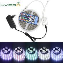 цена на 5m 300Leds DC 12V 5050 RGB White RGB Warm LED Strip Flexible Lights IP20 Holiday Light 40key IR Remote Desk Lamp Garden Lighting