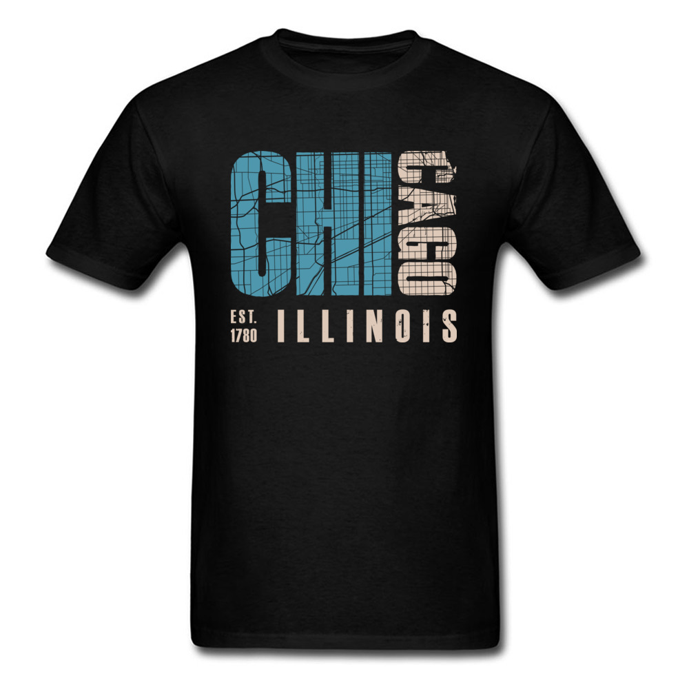Funny Chicago <font><b>illinois</b></font> Boy T Shirt High Quality Summer Fall Short Sleeve Round Collar Pure Cotton Tops Shirts Casual Tee-Shirts image