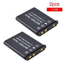 Batterie appareil photo 3.7V 1800mAh Li-40B Li40B EN-EL10 EN EL10 numérique batterie rechargeable pour Olympus Nikon Fujifilm Kodak