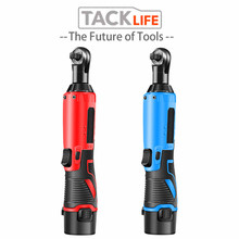 TACKLIFE 12V Electric Wrench Kit 3/8 Cordless Ratchet Wrench Rechargeable Scaffolding 65NM Torque Ratchet With Sockets Tools