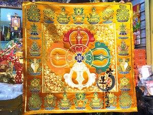 1 шт. Тибетский этнический характеристика буддизм тканая декоративная жаккардовая парча ткань/король конг фигура/бибкок 70*70 см