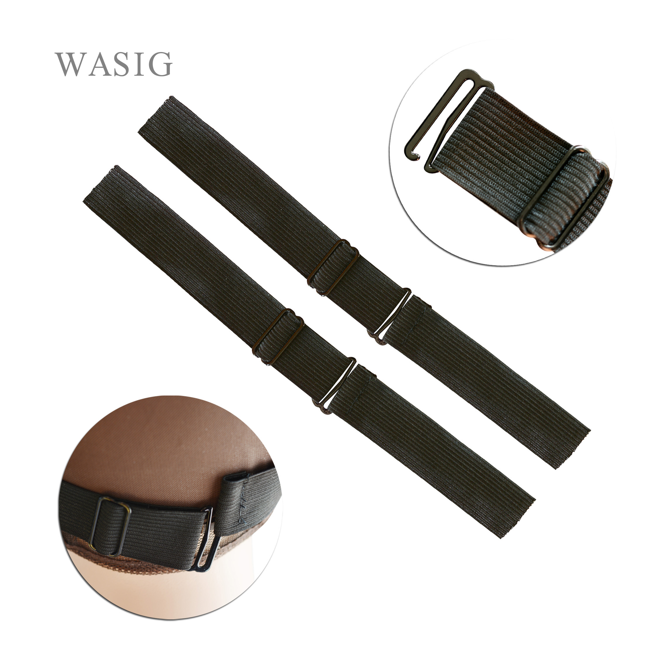 Adjustable Black Nylon Highest Elastic Bands For Wigs Making Wig Caps Hair Net Lace Net Sewing Rubber Wig Making Tools