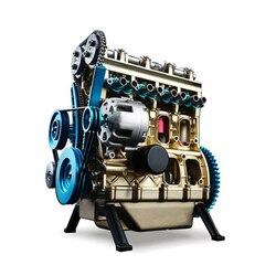 Новое поступление Teching 1:24 четырехцилиндровый двигатель, коллекция моделей из алюминиевого сплава, развивающие игрушки, игрушки для детей и ...
