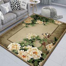 Alfombra lavable a máquina para sala de estar, tapete con estampado de área grande para sofá, mesa de café, suelo, moderna, sencilla