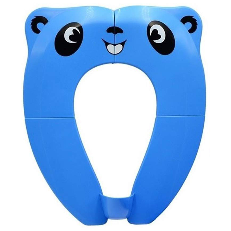 Portable Toilet Training Seat For Toddlers. Large Upgraded Folding Travel Potty Seat. Extra Stable, Powerful And Safe, With Hand