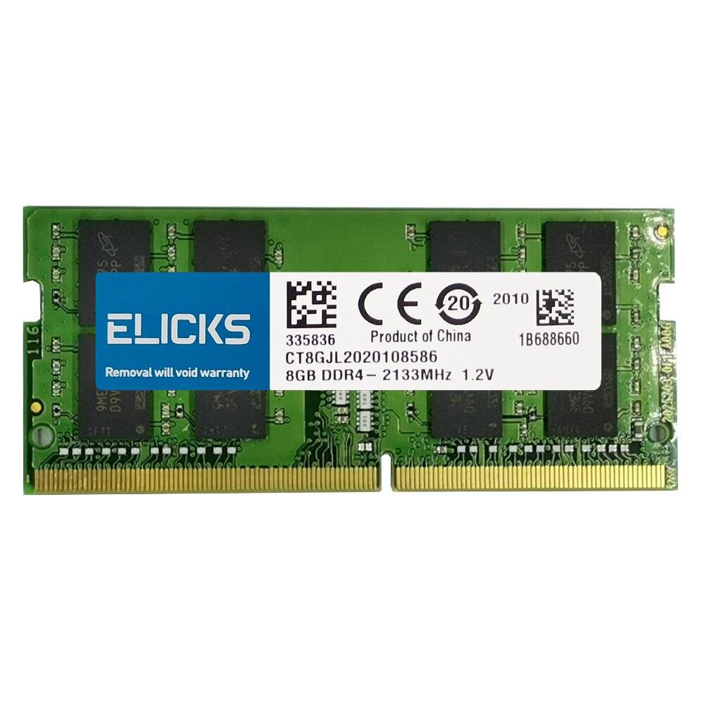 ELICKS 1GB 2GB 4GB 8GB DDR2 DDR3 RAM DDR4 RAM Notebook Laptop memories 533 667 800 1066 1333 1600 1866 2133 2400 2666MHz 3
