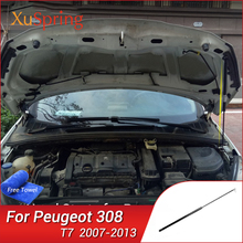 Capa dianteira do carro de elevação mola gás amortecedor strut barras haste hidráulica absorver para peugeot 308 t7 2007 2008 2009 2010 2012 2013