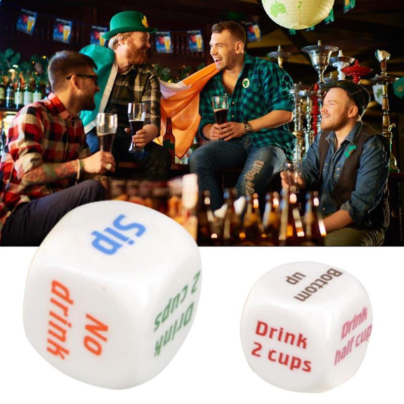 5pcs Drinking Game English Dice Bar Party Have Fun Drink Decider Props Eveyrone One Can Drink Bar Gifts Adult Party Game